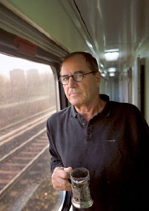 Paul Theroux traveling by rail