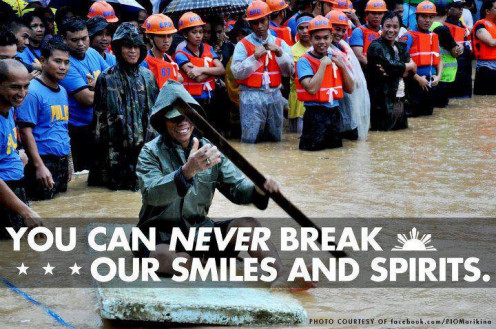 Smiling Faces of the Filipinos even in the midst of catastrophy