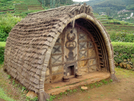 Huts of the 'Toda' Tribe