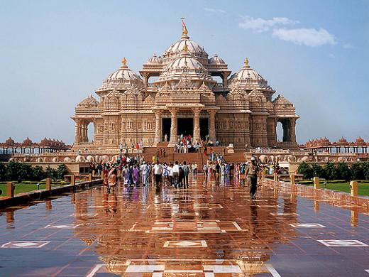 The Akshardham Temple in East Delhi