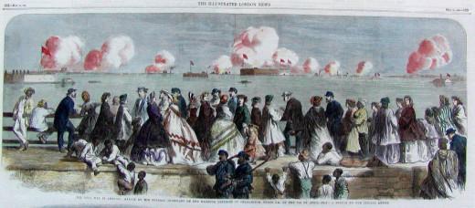 Charleston civilians witness the bombardment