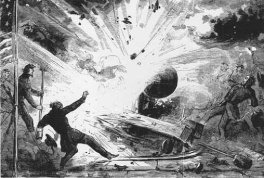Death of Daniel Hough - first fatality of American Civil War