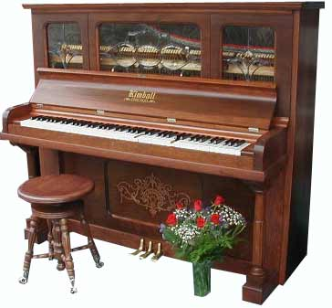 A nice upright piano