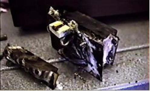 ... and this is the burnt out solenoid…
