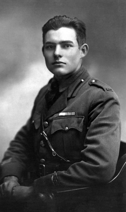 Ernest Hemingway in Milan 1918 retouched