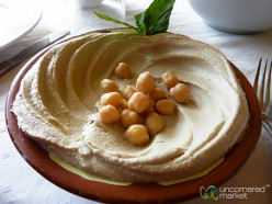 Hummus - olive oil and lime in chikpeas paste, an internet picture