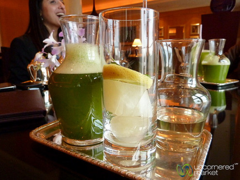 The green drink - lime in mint, an internet picture