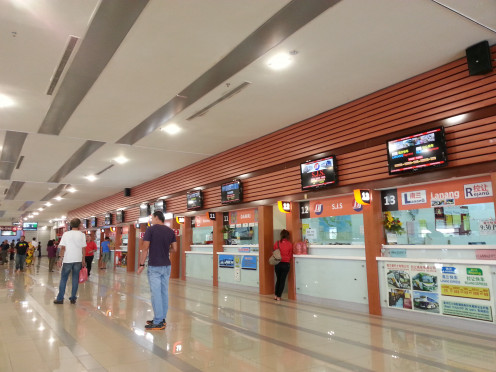 Ticketing counter view