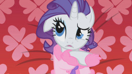 "Rarity contemplates the important questions, like ""Do ponies wallow in pity?"""
