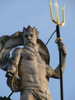The mighty ruler, also known as Neptune.