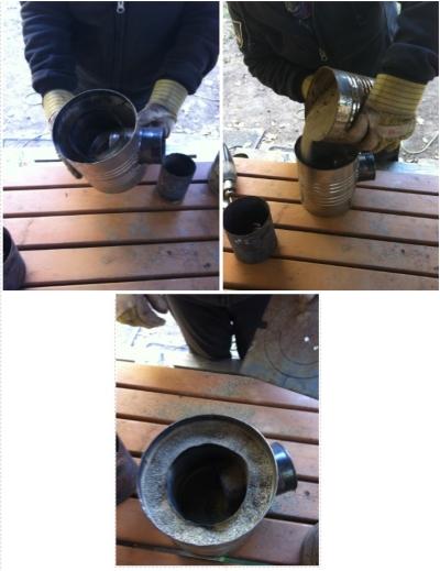Assembling the Rocket Stove.