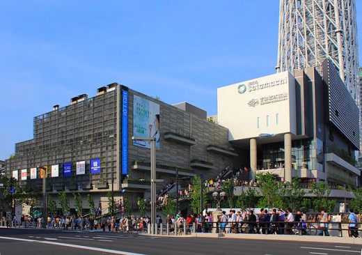 Tokyo Solamachi, a popular shopping mall at the base of Tokyo Skytree