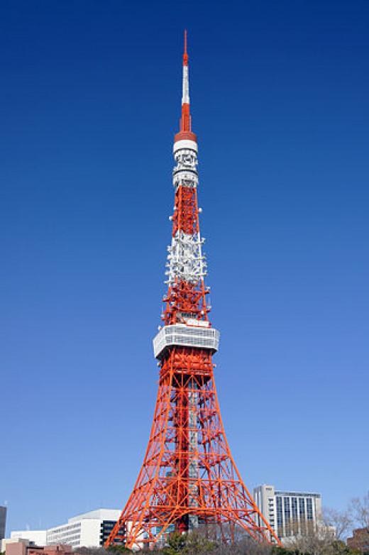 Tokyo Tower - a landmark tower in Minato