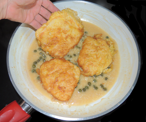 return cutlets to pan