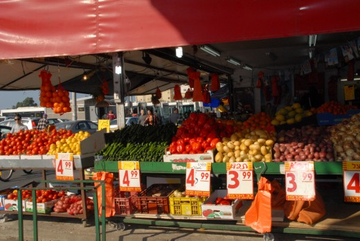 Even at an outdoor market, It is important to provide great service and have competitive prices, because there are so many people selling the same thing.