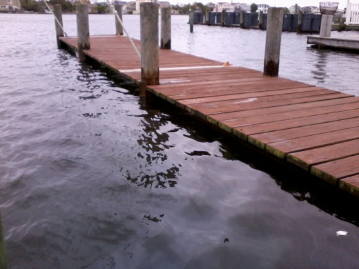 This is our dock 2 days before the storm was about to hit. When the surge and the high tides hit is when we had 5 feet of water through the house.