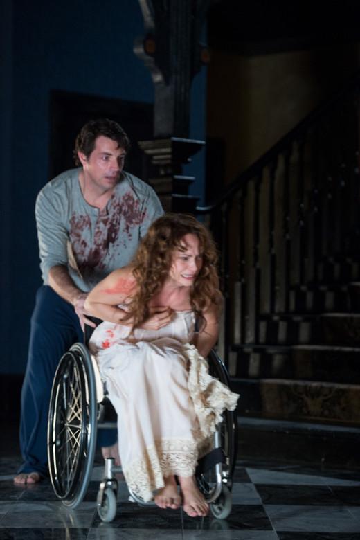 Fiona Dourif as Nica and Brennan Elliott as Ian in Curse of Chucky