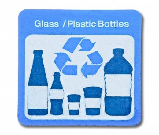 Please recycle plastic and glass