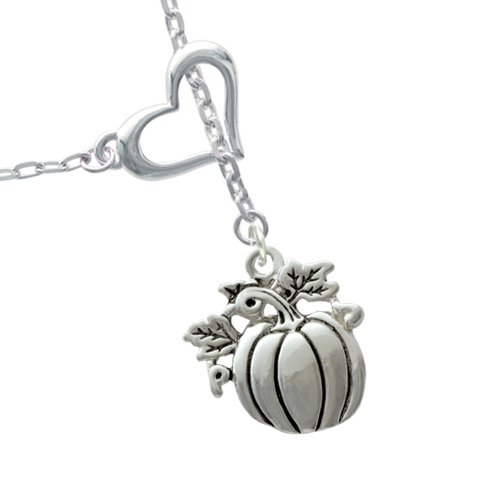 Small Pumpkin Heart Lariat Necklace