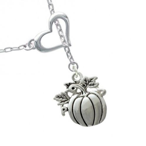 Small Pumpkin Heart Lariat Necklace