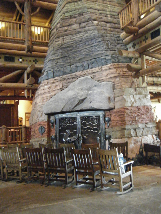 The lobby of Wilderness Lodge