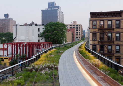 High Line Park, between west 28th and 29th St.