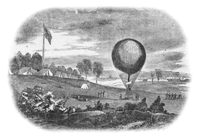 Using balloons for reconnaissance in American Civil War