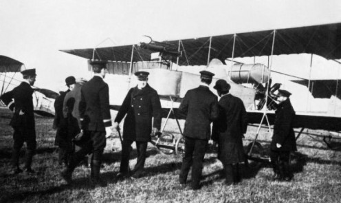 Winston Churchill With Naval Wing of the Royal Flying Corps, 1914