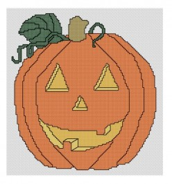 Jack o lantern cross stitch pattern