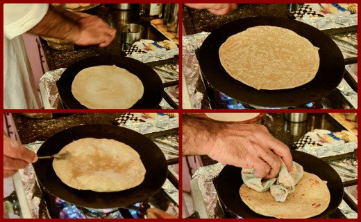 Use the time while your Chapati is baking to roll out the next one