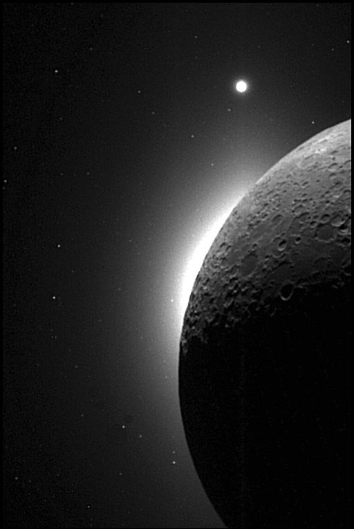 Venus seen next to the Moon.