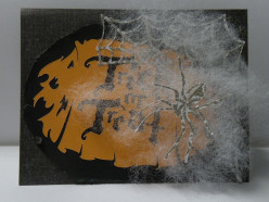 Easy to Make Halloween TRICK or TREAT card with your Cricut