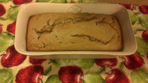 Banana bread fresh from the oven. The smell of fresh baked banana bread is enough to want a sample before it ever cools.