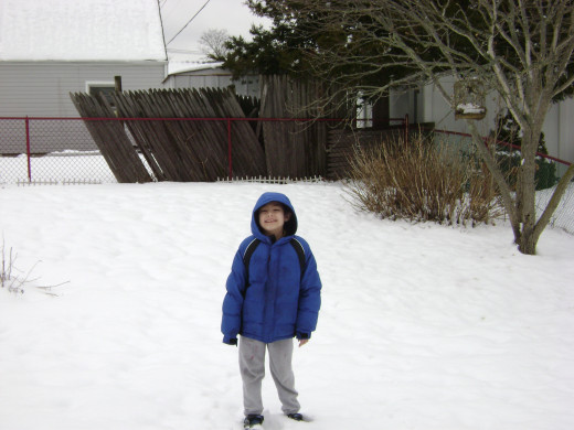 Matty in the snow