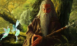 Cathbad/Cathbhadh the druid at the court of Conchobar