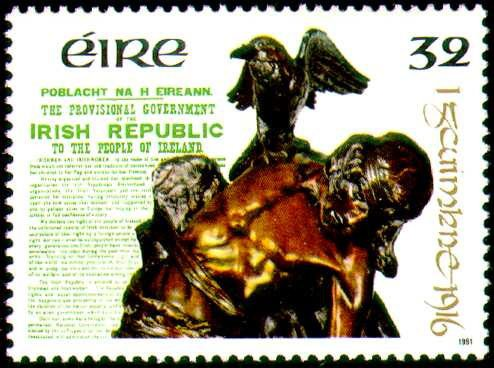 Symbols and myths - featured on postage stamp issued by the Republic of Ireland post office