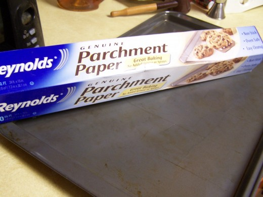 Parchment paper to line the cookie sheet.
