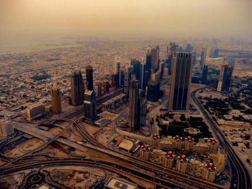 Dubai enhanced with the Topaz Restyle plugin