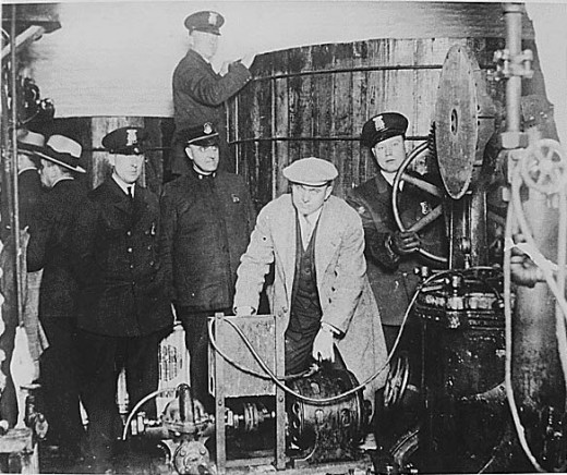 Prohibition of alcohol in the United States led to a rise in illegal breweries