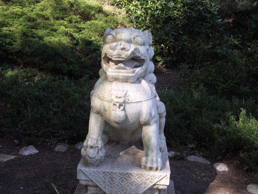 Wickham Park: Foo Dog in the Oriental Garden ~ Guardian Lion