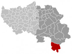 Map location of Burg-Reuland municipality, Liège province, Belgium