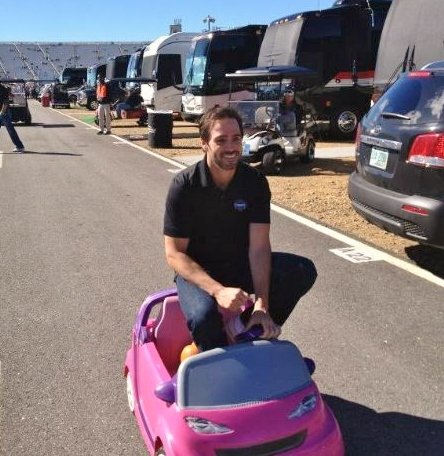 Johnson, winner of eight events at Martinsville, testing his new ride. And yes, he could probably take it to victory lane here