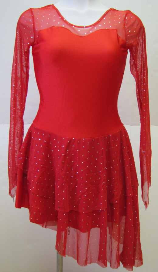 Red Sparkly Ice Dance Dress