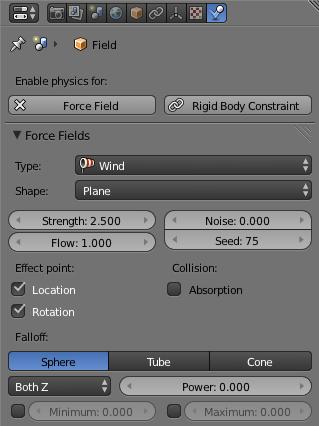Wind force field.