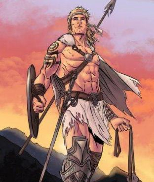 Cuchulainn the warrior who chose renown over long life - a magnet for women, but turning away Morrigan cost him dearly