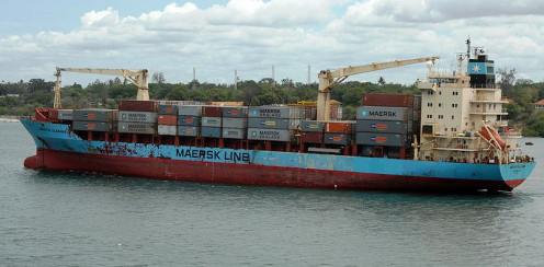 Container ship MV Maersk Alabama successfully leaves Mombasa, Kenya on April 21, 2009.
