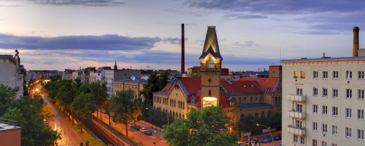 Panoramic view of the beautiful Kulturbrauerei