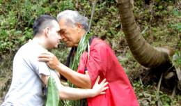 Honi  (Hawaiian style kiss)