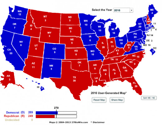 Potential Electoral Map For Deval Patrick. This is assuming he is up against a Republican candidate.