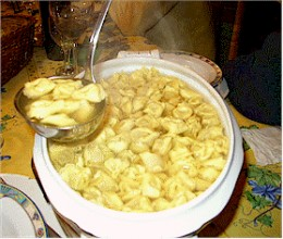 Tortellini al brodo may be the most delicate and savoury dish anywhere!